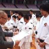 少林寺拳法の大会にて