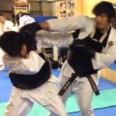 少林寺拳法の練習風景